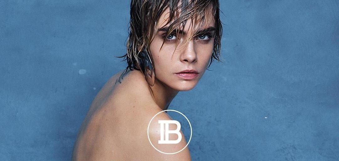 Свободная, обнаженная и мокрая Кара Делевинь стала героиней нового рекламного видео Balmain
