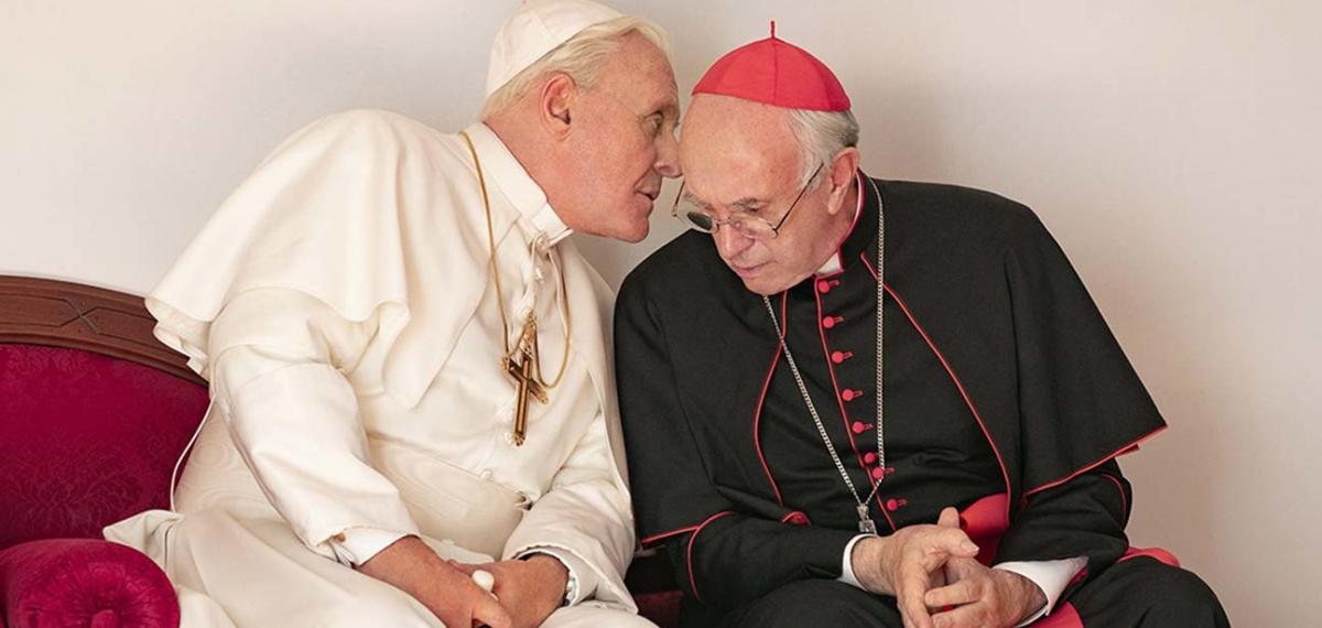 Ватиканские игры: Энтони Хопкинс и Джонатан Прайс в новом трейлере «Два папы»