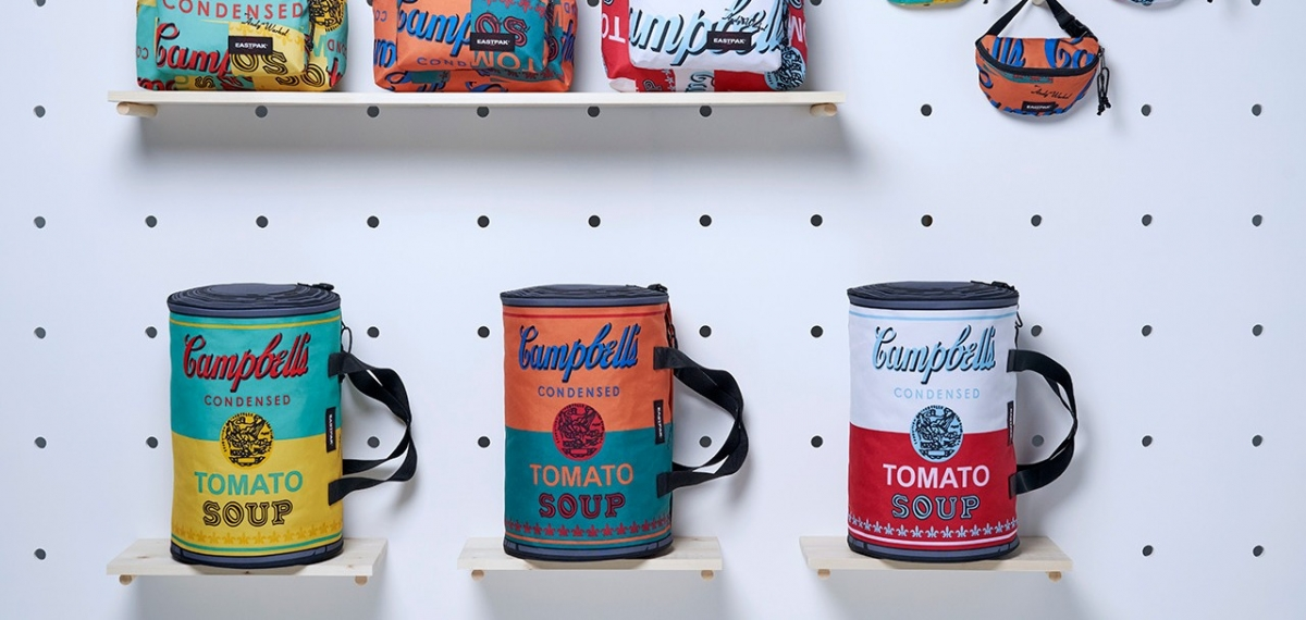 Любимый бренд Энди Уорхола Eastpak создал сумки с его картинами