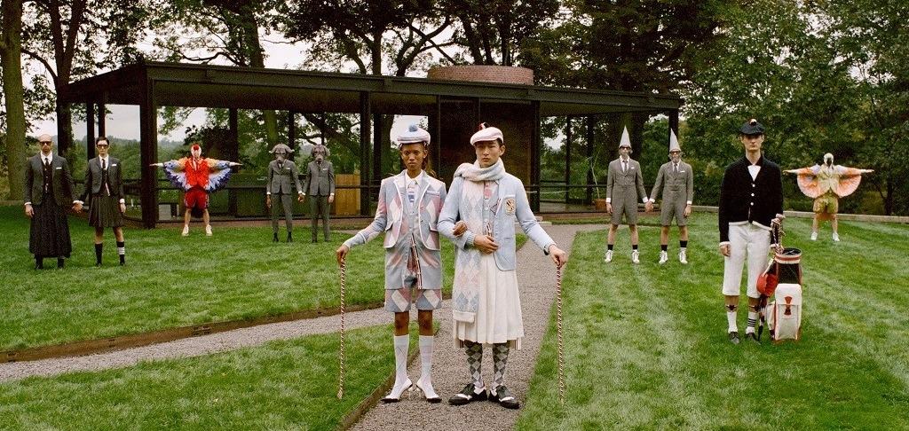 Идеальный до ужаса кампейн гольф-коллекция от Thom Browne