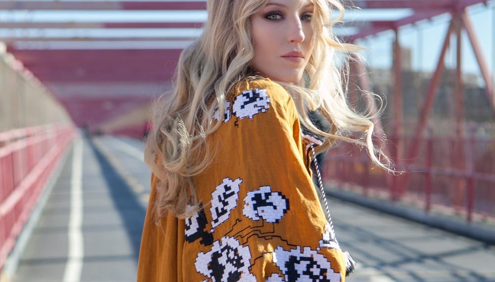 Элла Ричардс в новом эдиториал этно бренда Varenyky Fashion