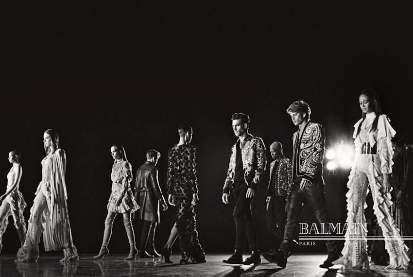 Заплаканные лица Ким Кардашьян, Канье Уэст и др. в рекламной кампании Balmain