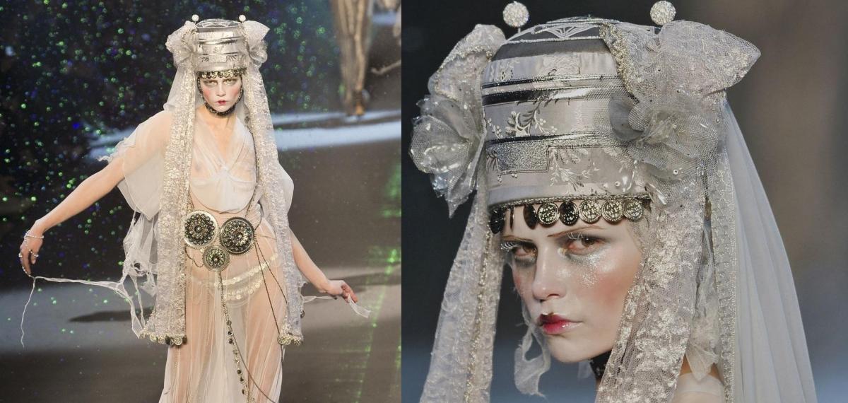 Снежные королевы на показе коллекции John Galliano 2009 года