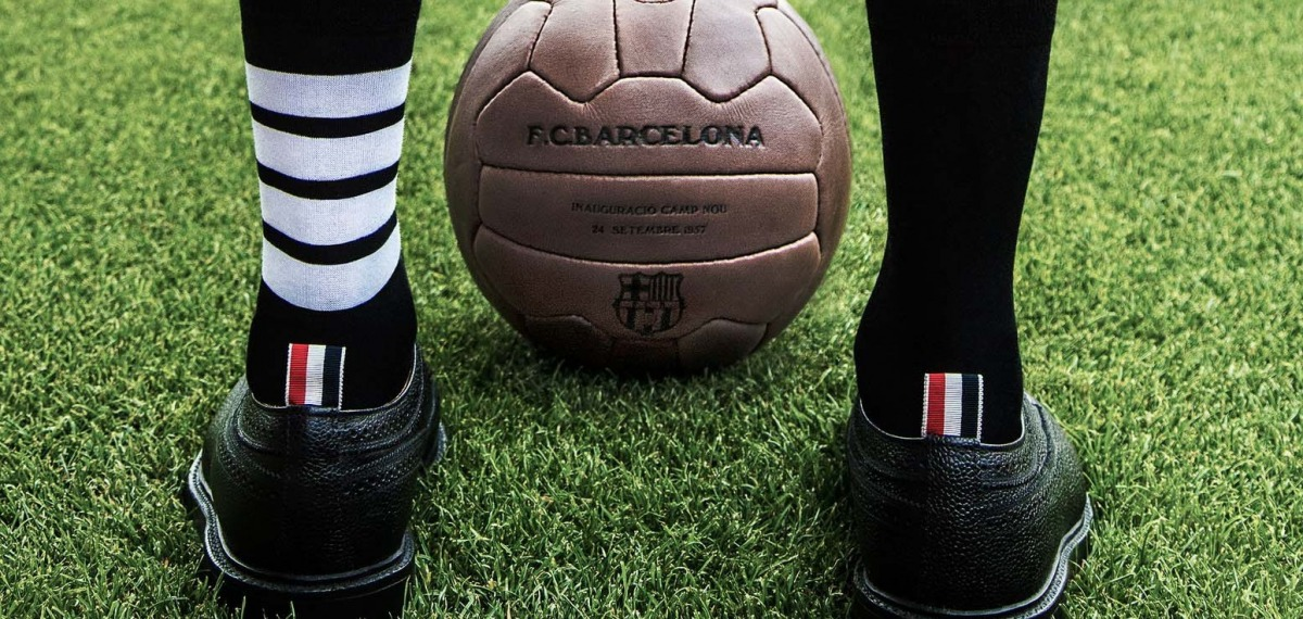 Футбол со вкусом: Новая форма FC BARCELONA от Thom Browne