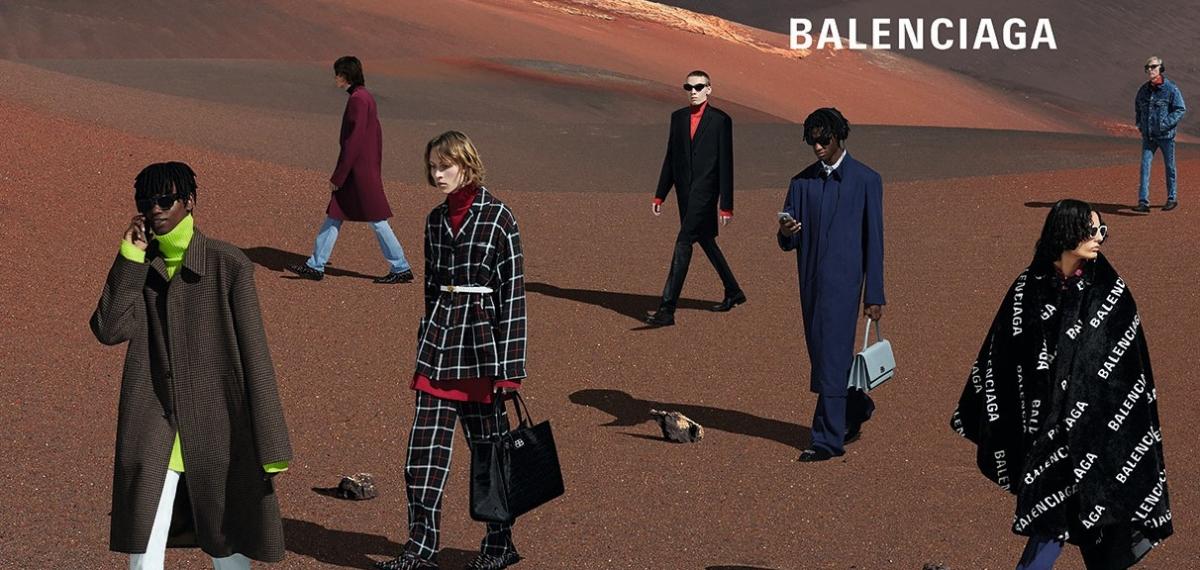 Блуждающие странники пустыни в новом кампейне Balenciaga