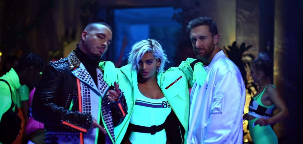Неоновая коллаборация в музыкальном видео David Guetta, Bebe Rexha & J Balvin