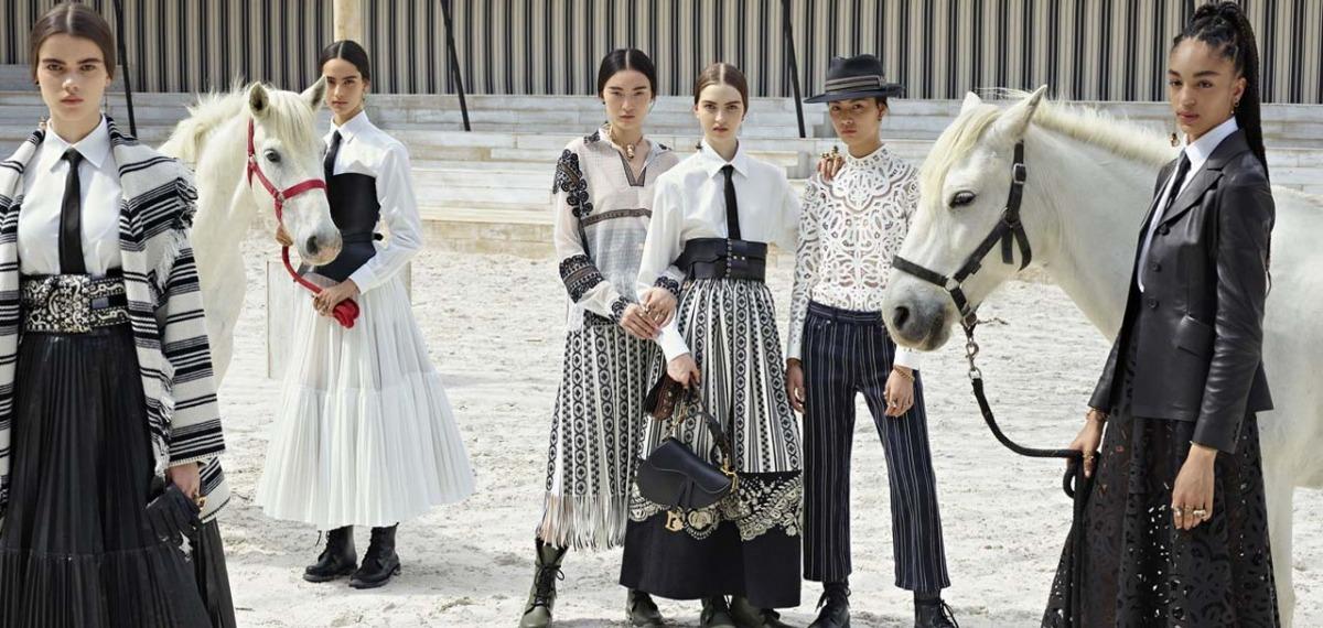 Женщины-наездницы в круизной коллекции Christian Dior 2019