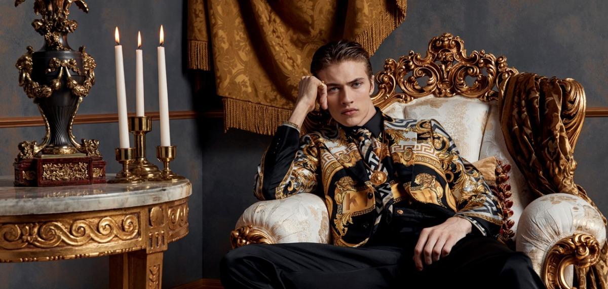 В компании Беллы Хадид: Лаки Блю Смит стал лицом мужской линии KITH x Versace