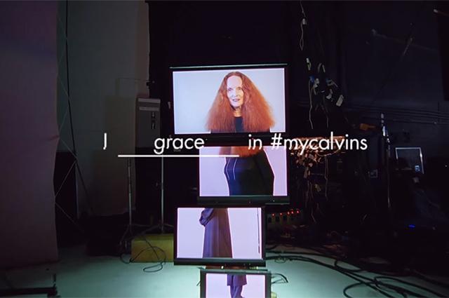 Грейс Коддингтон, Марго Робби и Кейт Мосс в новой кампании Calvin Klein