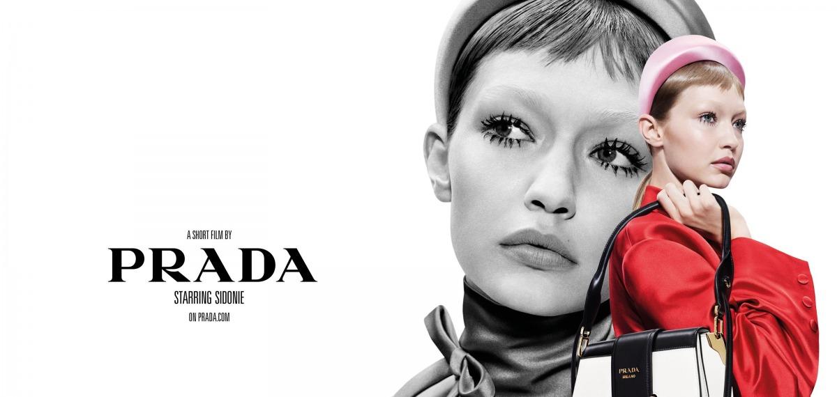 Афиши к фильмам: Джиджи Хадид в ретро-кампейне Prada