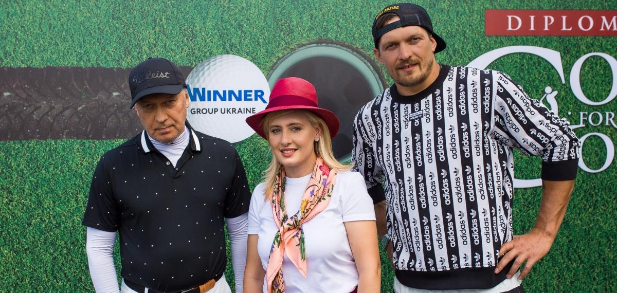 Спорт для чемпионов: Кличко, Усик, Шевченко, дипломаты и бизнес на турнире «Diplomatic Golf for Good»
