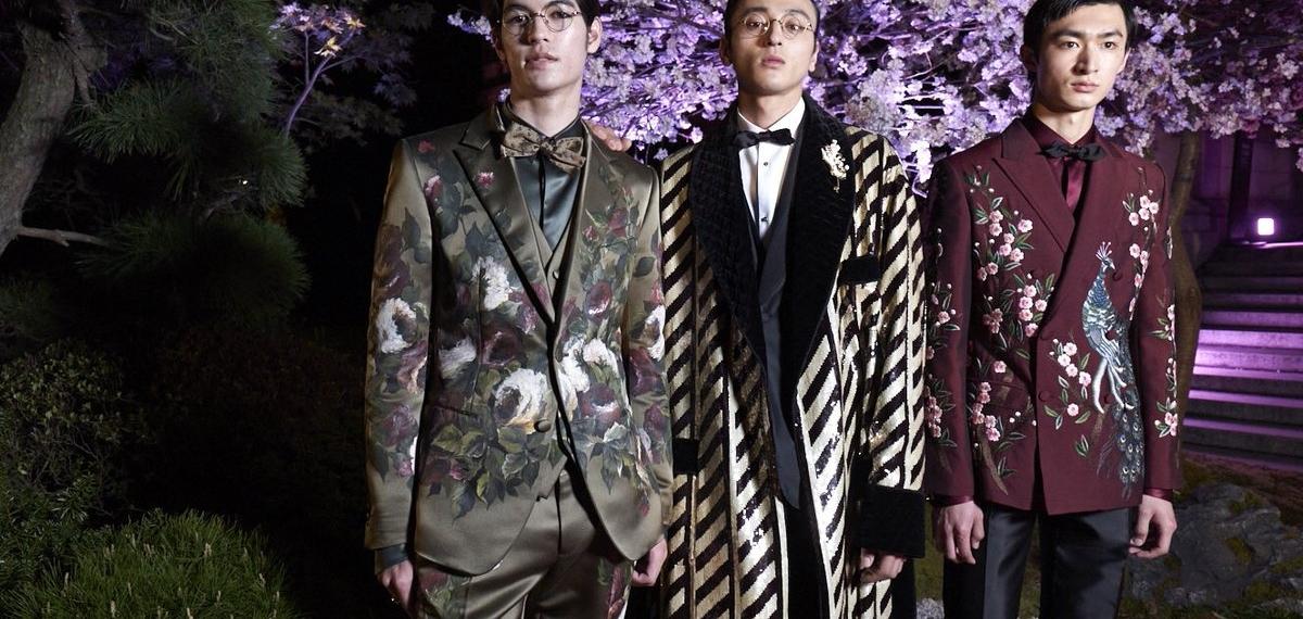 Цветущая сакура на кутюрном показе Dolce & Gabbana в Токио