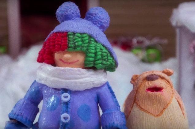 Sia представила один из трех мультяшных роликов к Рождеству