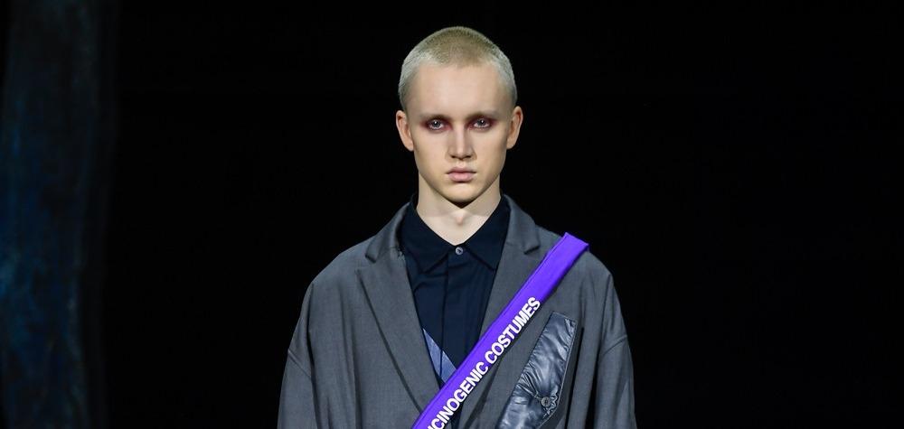 Мужской макияж и токийский стиль на показе Yoshio Kubo