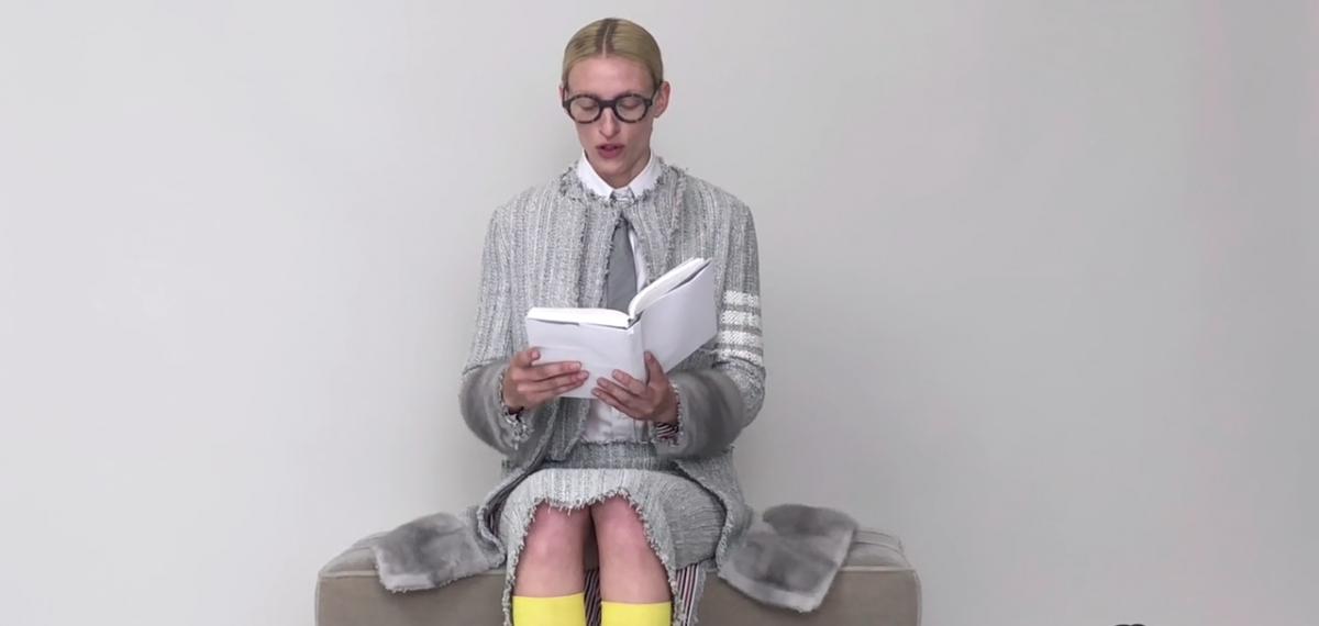 Модель говорит: Все поменялись голосами в специальном модном видео Thom Browne