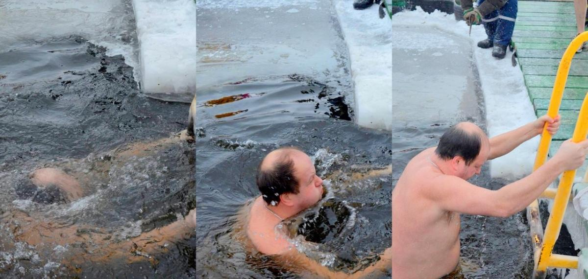 Віктор Бронюк : «На Водохрещення купаюся вже п'ятий рік поспіль» (фото)