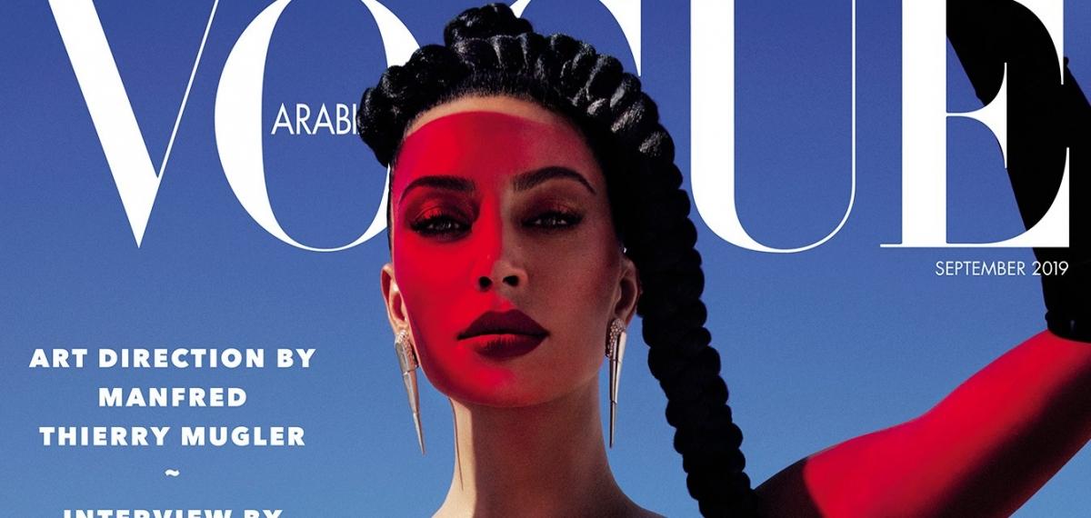Разговорчики на кухне: Канье Уэст взял интервью у любимой Ким Кардашьян для Vogue Arabia