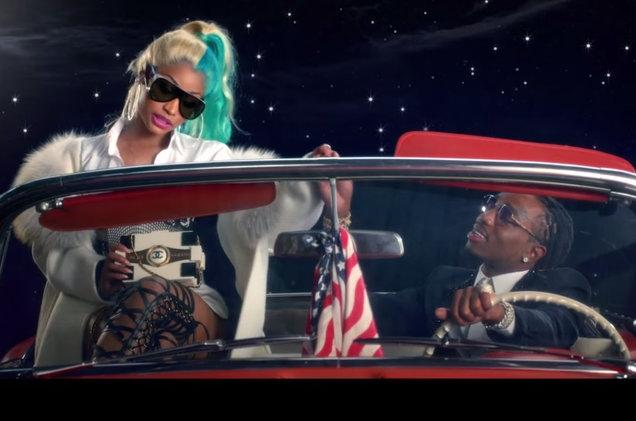 Nicki Minaj и рэпер Quavo в новом видео