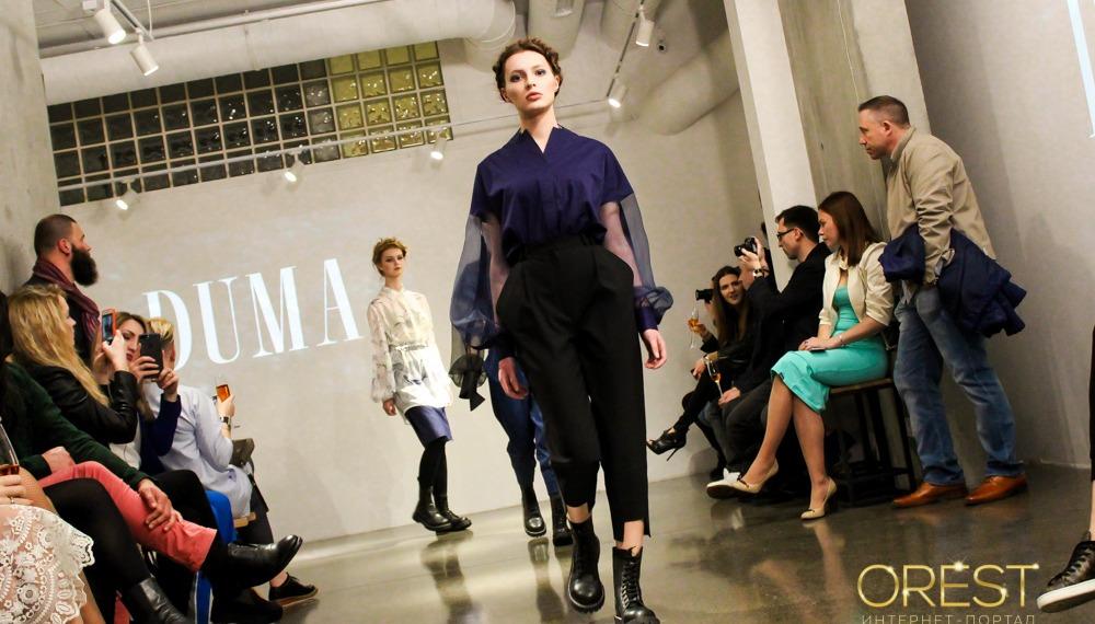Показ дебютной коллекции нового украинского бренда DUMA