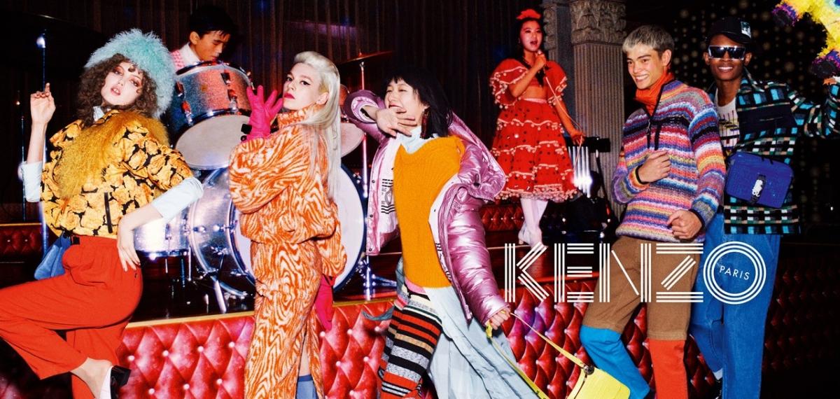 Новое дыхание бренда KENZO в серии винтажных открыток кампании FW19