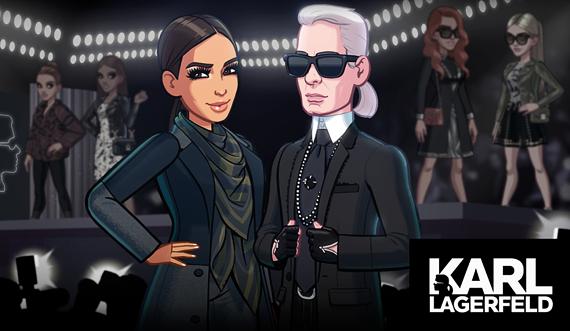 Карл Лагерфельд стал героем мобильной игры Ким Кардашьян