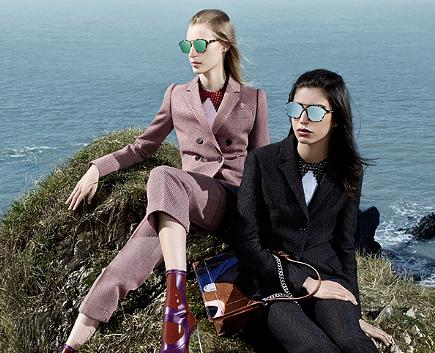 Зеркальные новые очки Dior Abstract