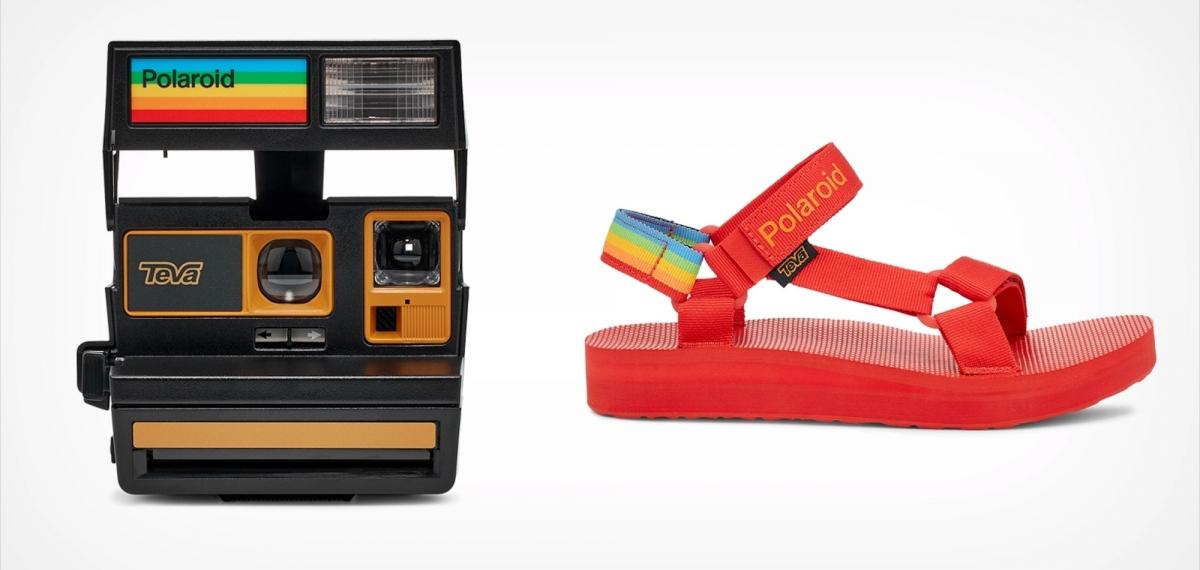 Polaroid и Teva создали коллаборацию летних сандалий и фотоаппарата