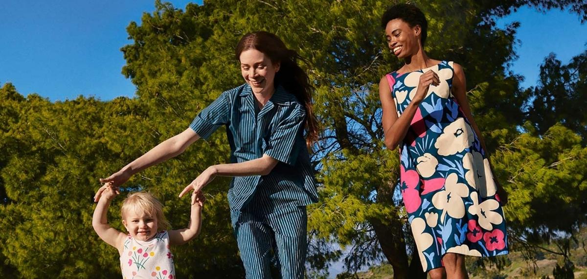 Коллекция MARIMEKKO X UNIQLO для мам и детей, вдохновленная летним солнцем
