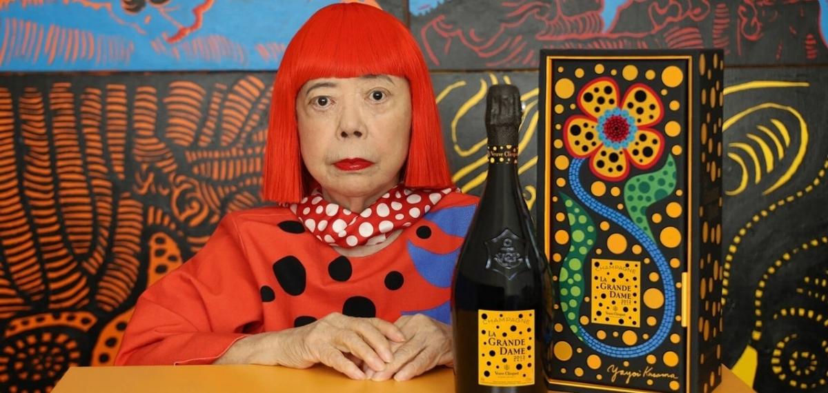 Художница Яёи Кусама совместно с Veuve Clicquot представляют лимитированную бутылку