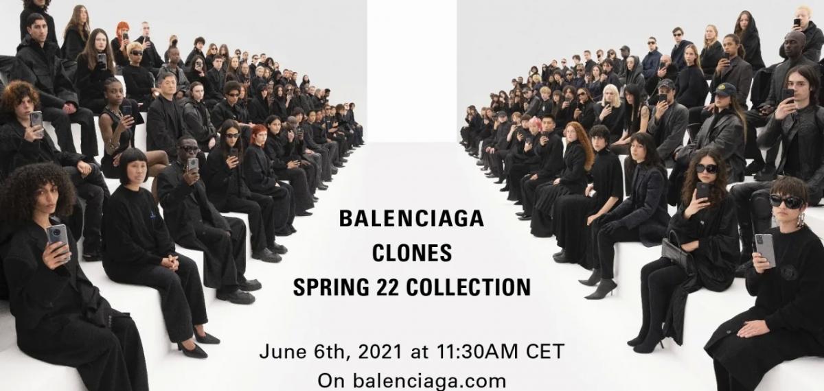 44 клона на эффектном показе Balenciaga Spring 2022