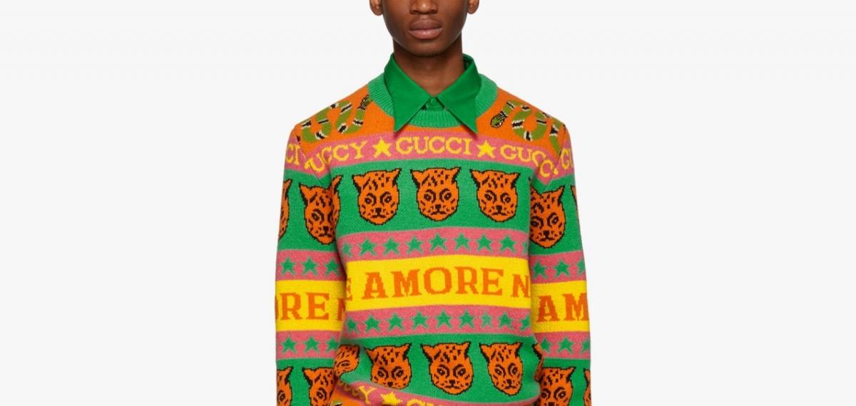 Красивые «некрасивые» рождественские свитера Gucci