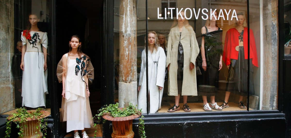 Показ новой коллекции LITKOVSKAYA весна-лето 2018 в Париже