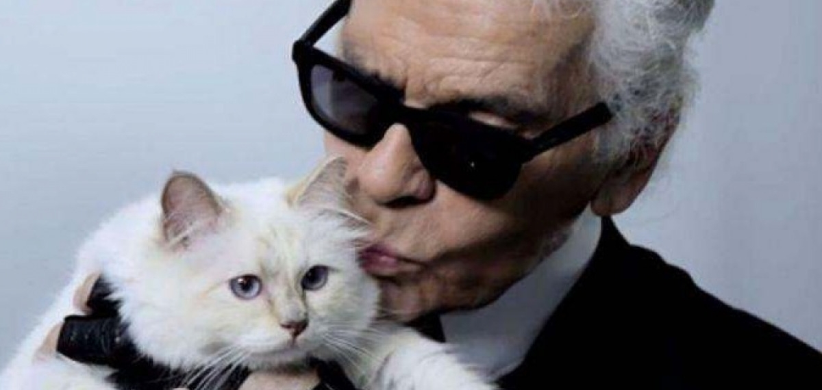 Истории любви известных дизайнеров: Карл Лагерфельд и его возлюбленная кошка Шупетт