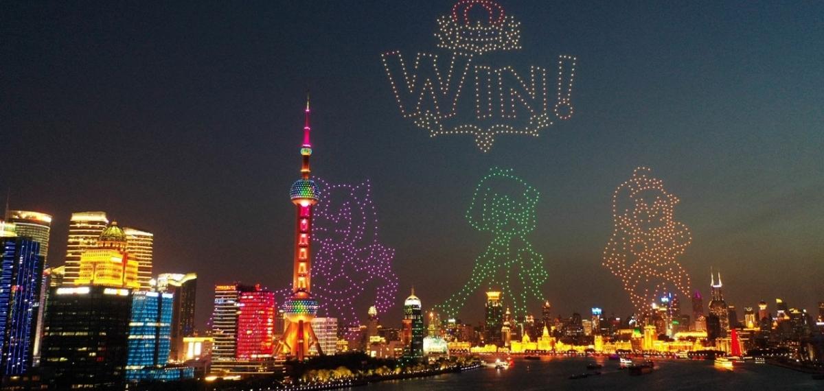 Китайская игровая компания создала из дронов сканируемый QR-код в небе